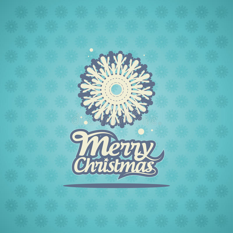 Disegno della cartolina di Natale. illustrazione di stock