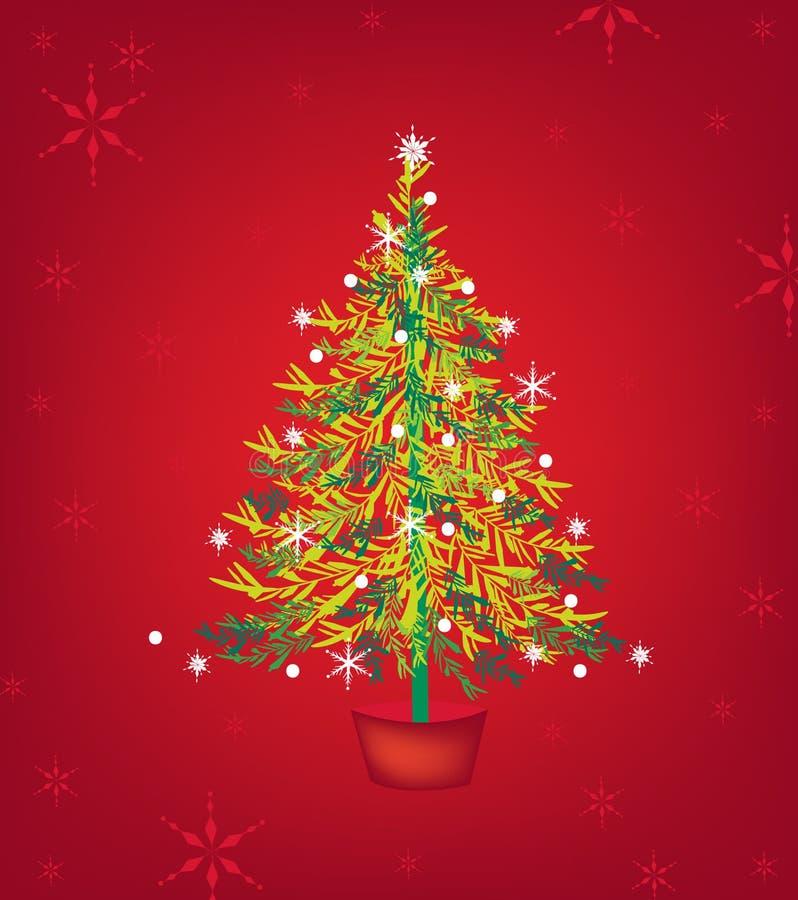 Disegno della cartolina di Natale illustrazione di stock