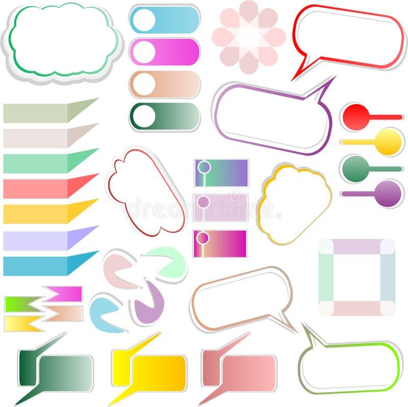 Disegno della casella di testo degli elementi di disegno illustrazione di stock