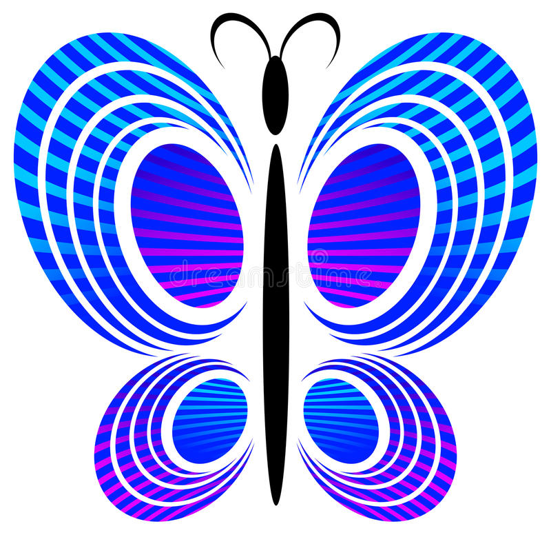 Disegno della farfalla illustrazione di stock