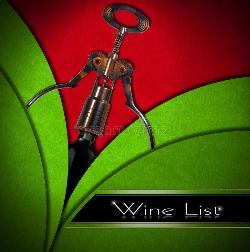 Disegno della lista di vino illustrazione vettoriale
