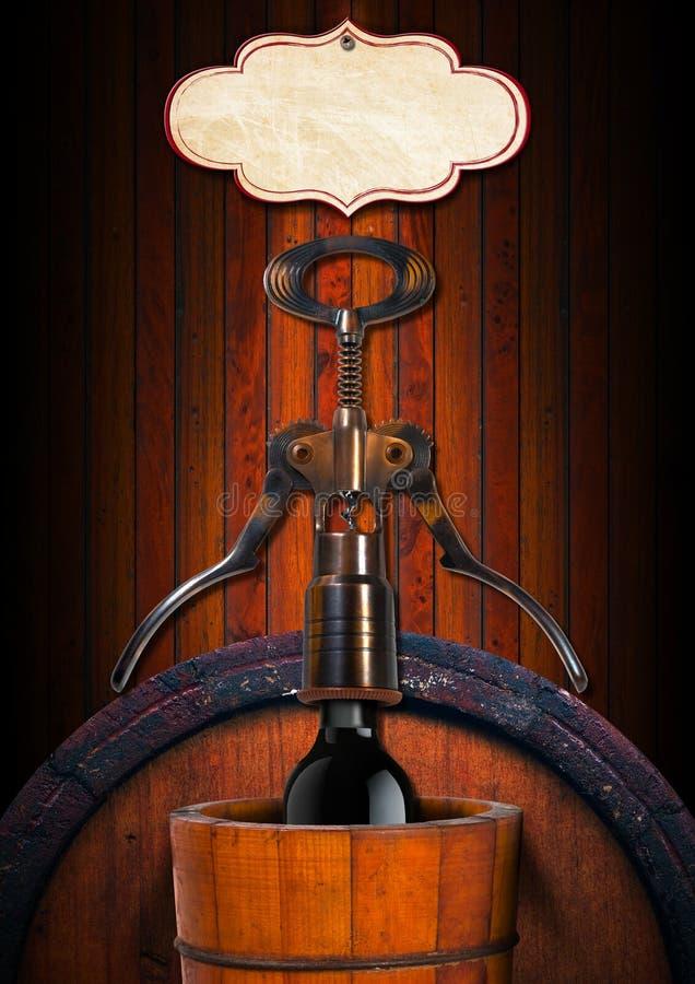 Disegno della lista di vino illustrazione di stock