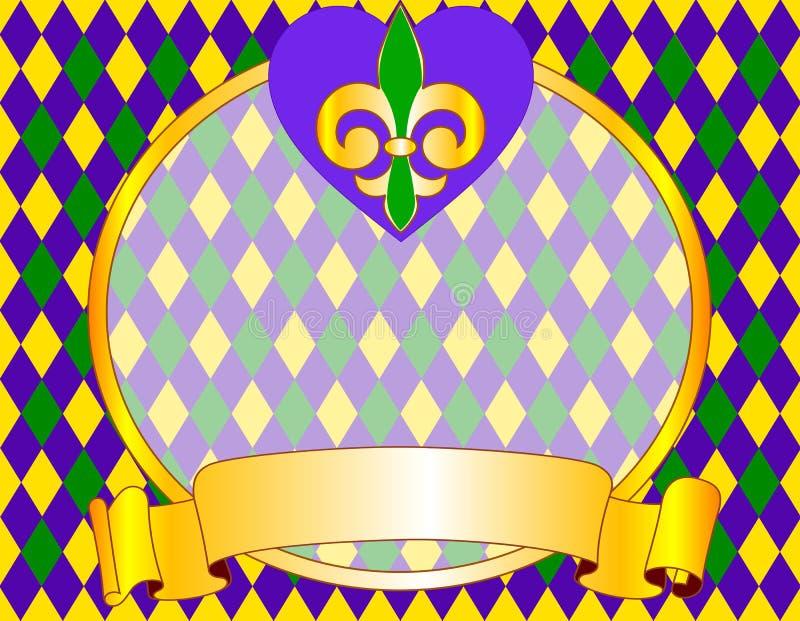 Disegno della priorità bassa di Mardi Gras illustrazione vettoriale