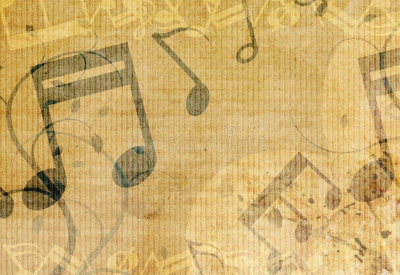 Disegno della priorità bassa di musica di Grunge illustrazione di stock