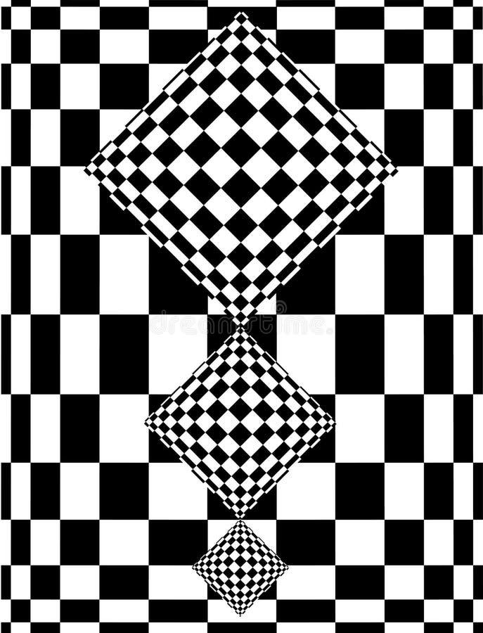 Disegno della scacchiera illustrazione di stock
