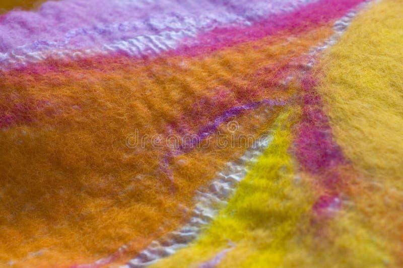 Disegno della tessile del feltro fotografia stock libera da diritti