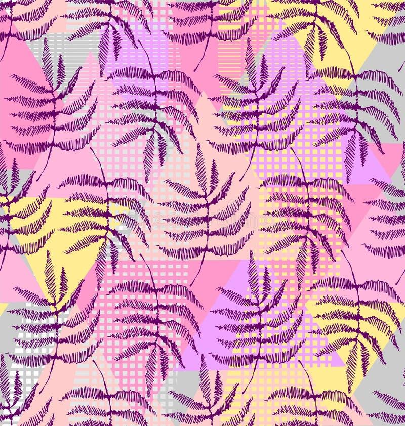 Disegno delle foglie della felce illustrazione di stock