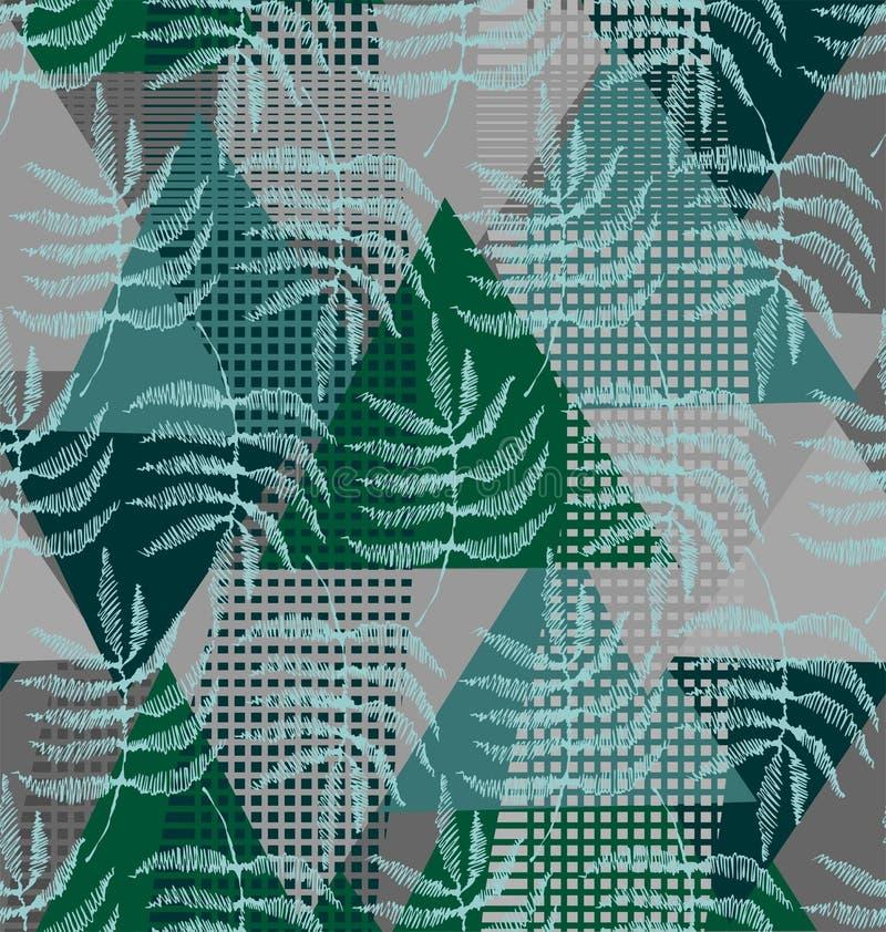 Disegno delle foglie della felce illustrazione vettoriale