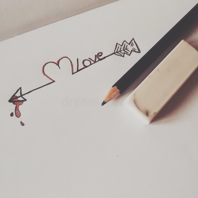 Disegno di amore immagini stock