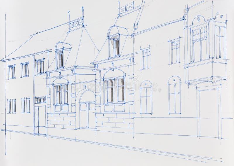 Disegno di architettura della facciata della costruzione for Disegno della casa di architettura