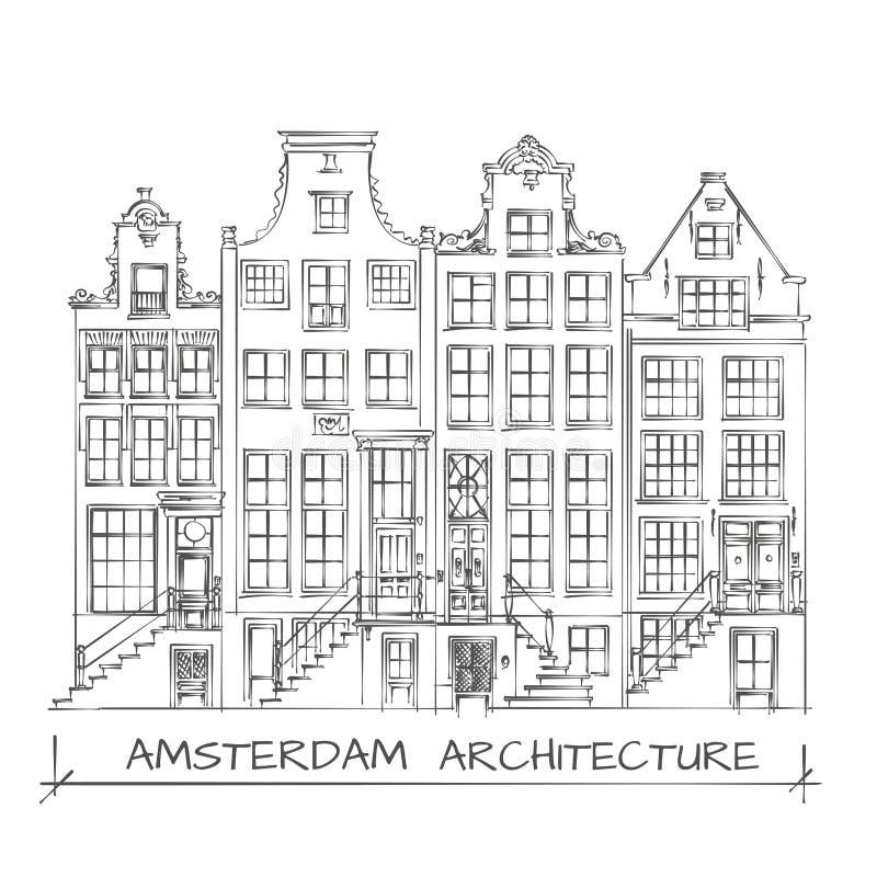 Disegno di architettura di amsterdam illustrazione for Disegno del piano di architettura