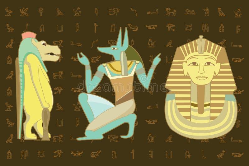 Disegno di carattere dell'Egitto illustrazione di stock