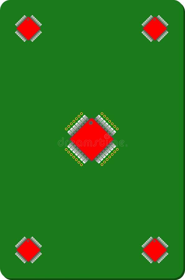 Disegno di chip elettronico sulla scheda immagine stock libera da diritti
