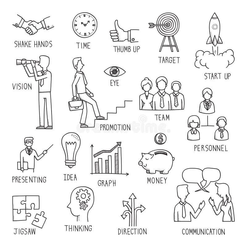 Disegno di concetto di affari royalty illustrazione gratis