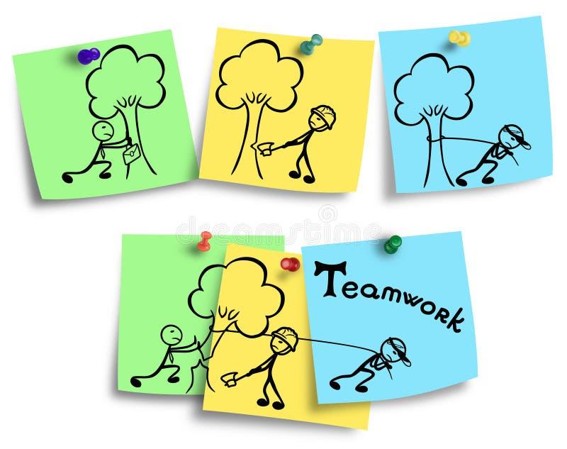 Disegno di efficienza del lavoro di gruppo e dell'individuo royalty illustrazione gratis