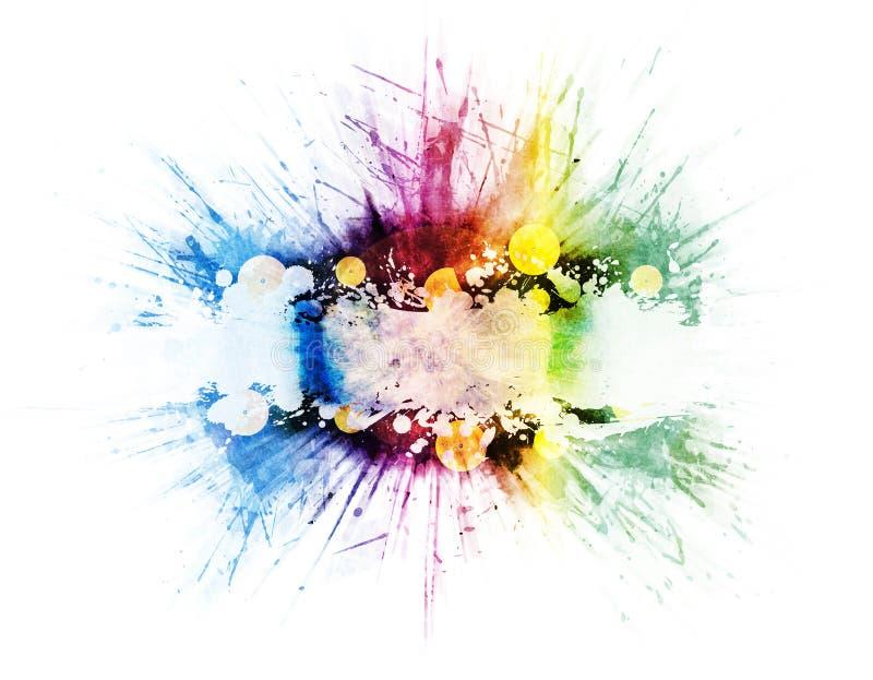 Disegno di esplosione del Rainbow di musica del vinile royalty illustrazione gratis