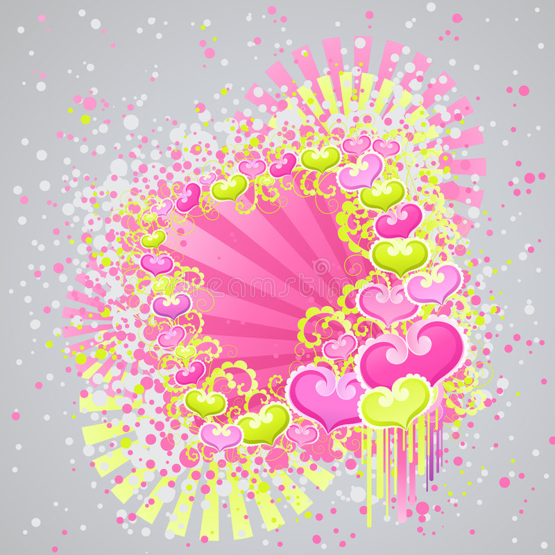 Disegno di giorno dei biglietti di S. Valentino. royalty illustrazione gratis