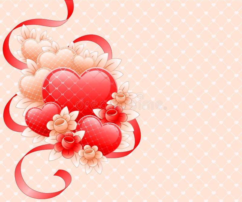 Disegno di giorno dei biglietti di S. Valentino. illustrazione di stock