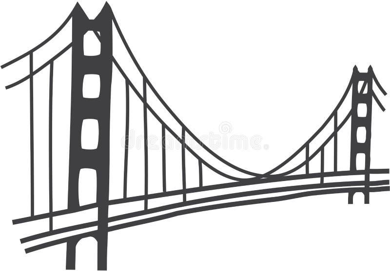 Disegno di golden gate bridge illustrazione vettoriale