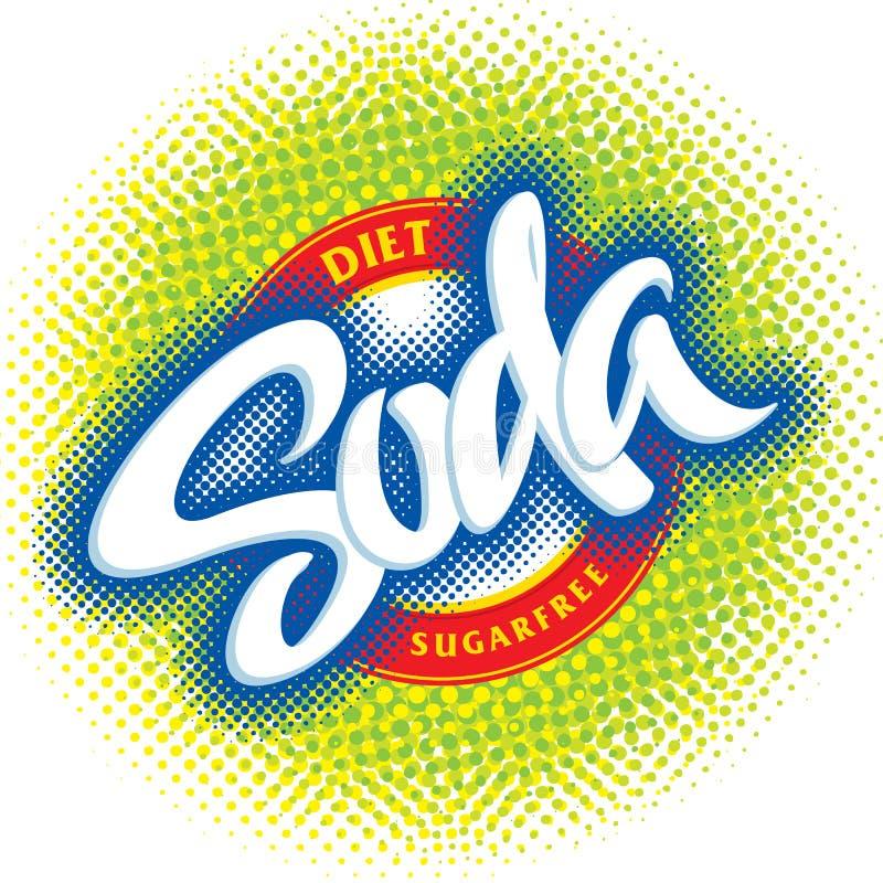 Disegno di imballaggio della soda (vettore) illustrazione di stock