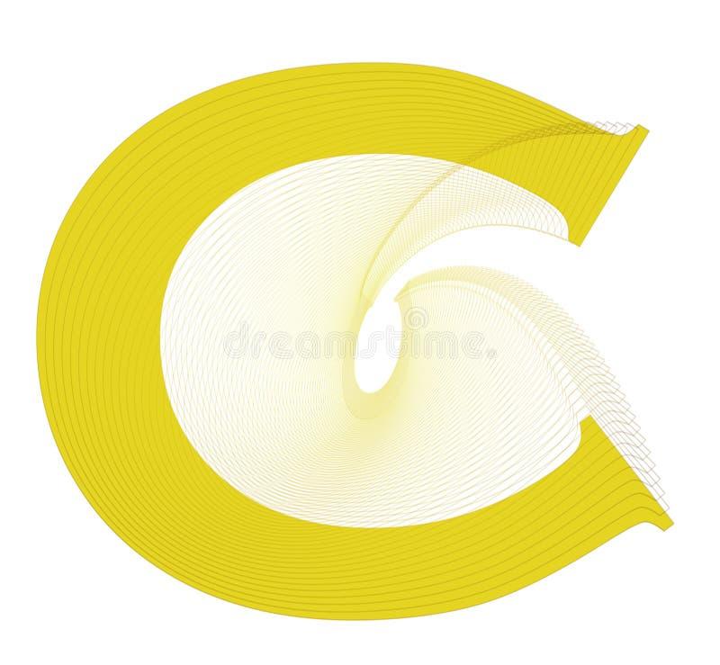 Disegno di lettera di C fotografia stock