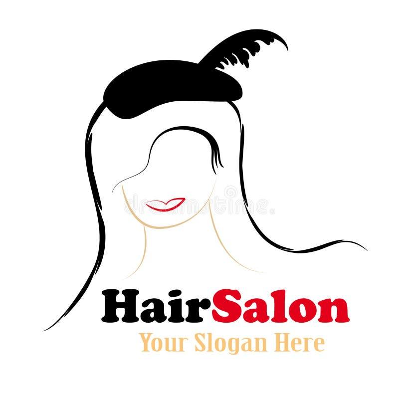 Disegno di marchio del salone di capelli illustrazione di stock