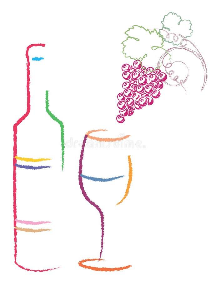 Disegno di marchio del vino illustrazione di stock