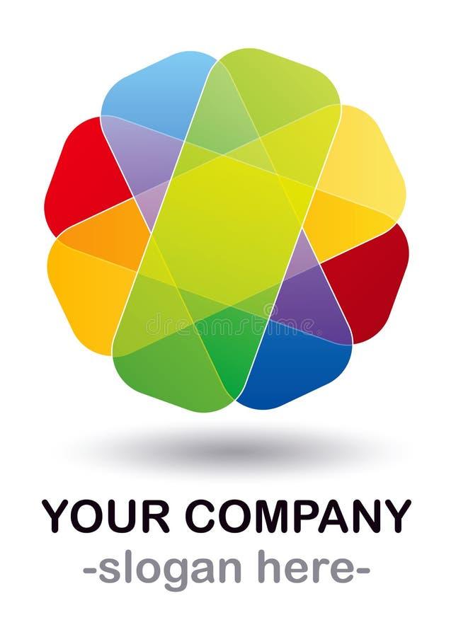 Disegno di marchio di colore illustrazione di stock