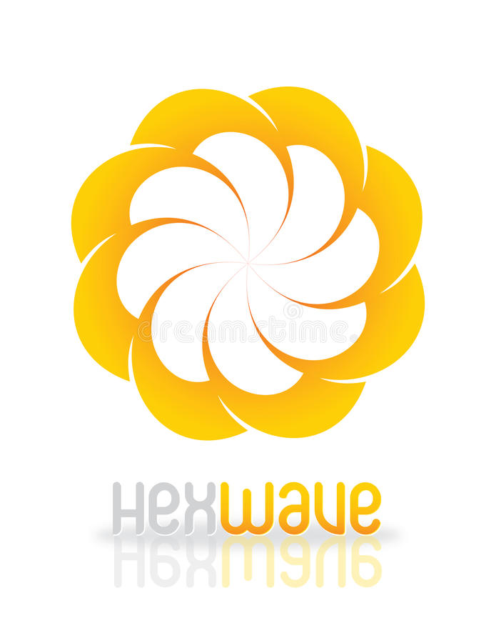 Disegno di marchio di HexWave illustrazione vettoriale
