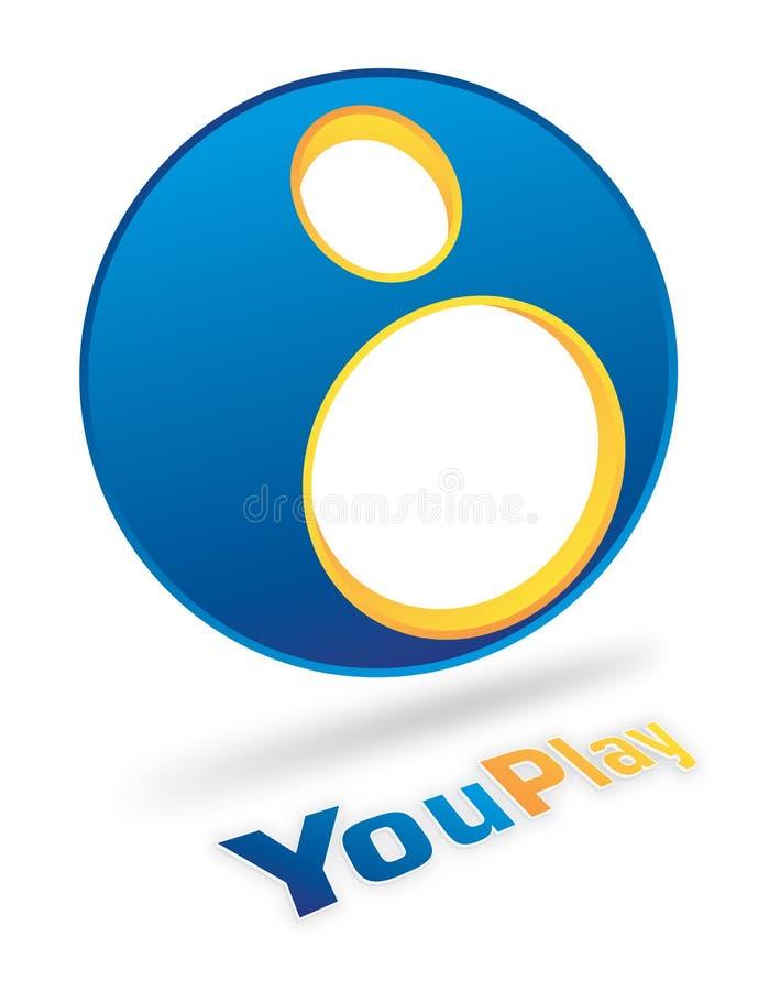 Disegno di marchio di YouPlay illustrazione vettoriale