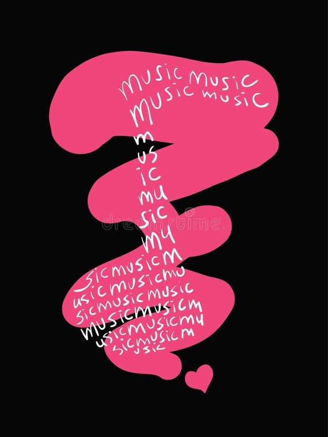 Disegno di musica illustrazione di stock