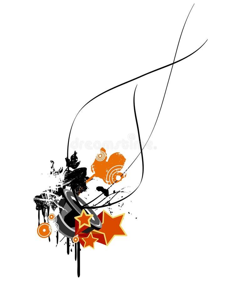 Disegno di musica di Grunge royalty illustrazione gratis