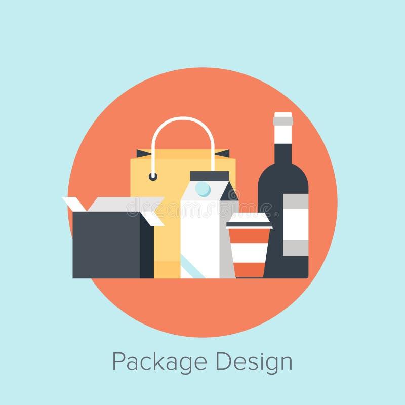 Disegno di pacchetto illustrazione vettoriale