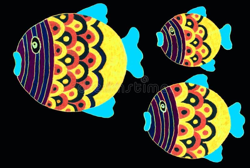 Disegno di piccolo pesce sveglio fotografia stock libera da diritti