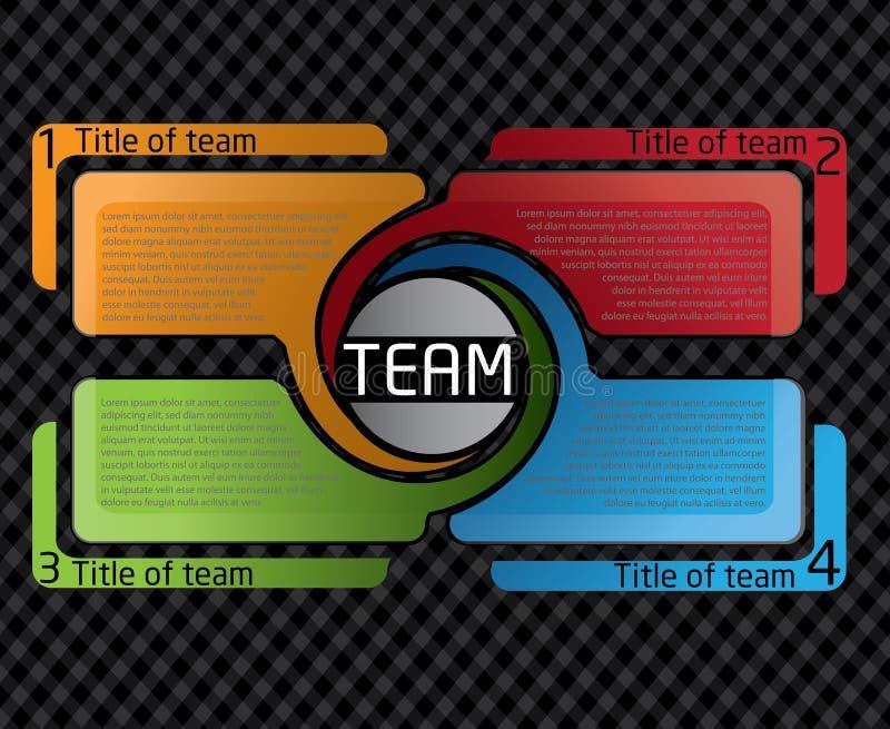 Disegno di Presentatio per la squadra illustrazione vettoriale