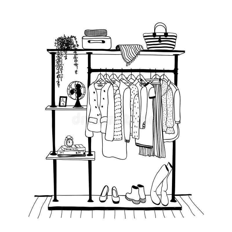 картинка раскраска шкаф с одеждой правильно собрать