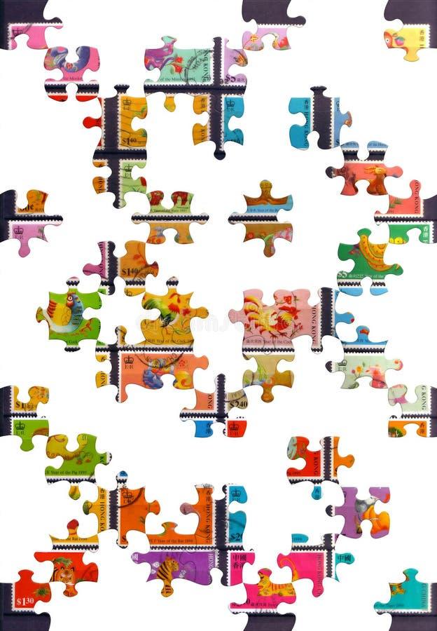 Disegno di puzzle fotografie stock