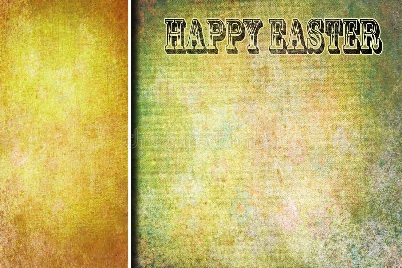 Disegno di scheda astratto dell'annata di Pasqua illustrazione di stock