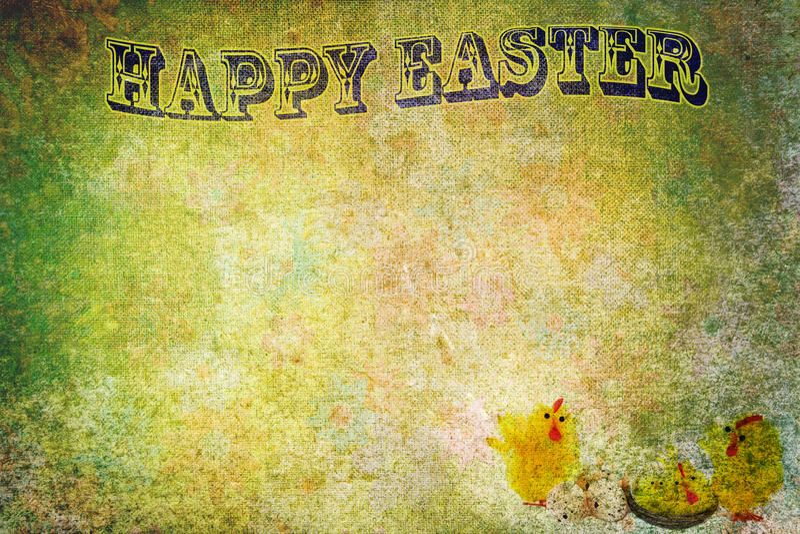 Disegno di scheda astratto dell'annata di Pasqua royalty illustrazione gratis
