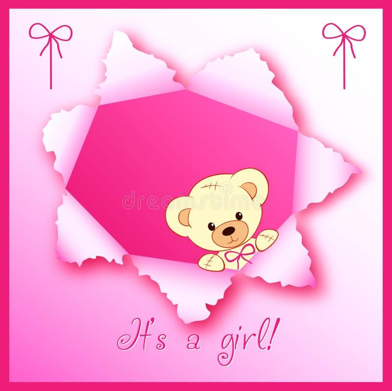 Disegno di scheda della neonata illustrazione di stock