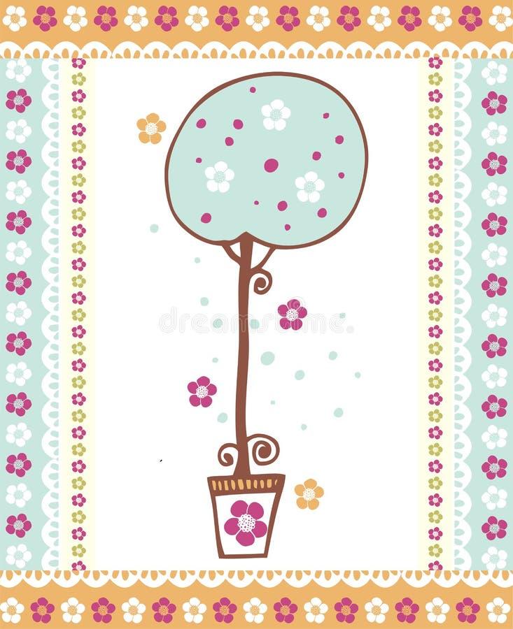 Disegno di scheda romantico immagine stock