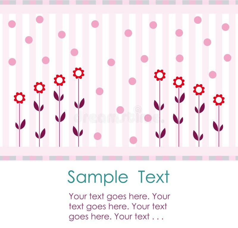Disegno di scheda romantico dell'invito illustrazione di stock