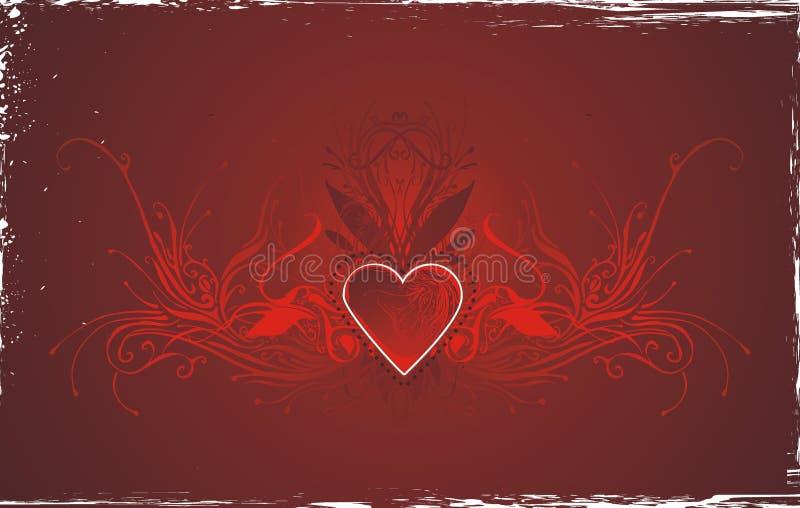 Disegno di scheda rosso di amore illustrazione vettoriale