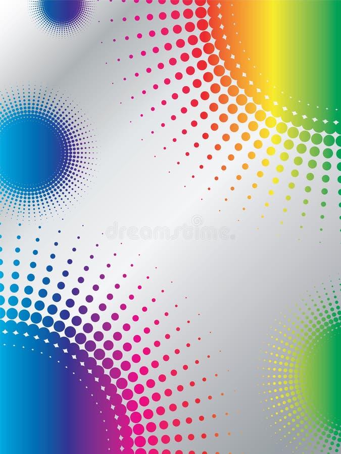 Disegno di semitono con il Rainbow illustrazione di stock