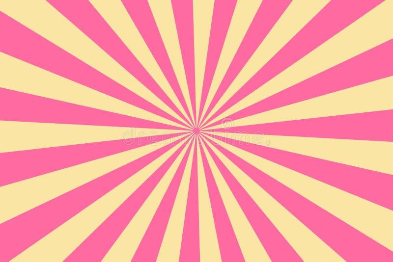 Disegno di sfondo di Sunburst Illustrazione fotografie stock libere da diritti