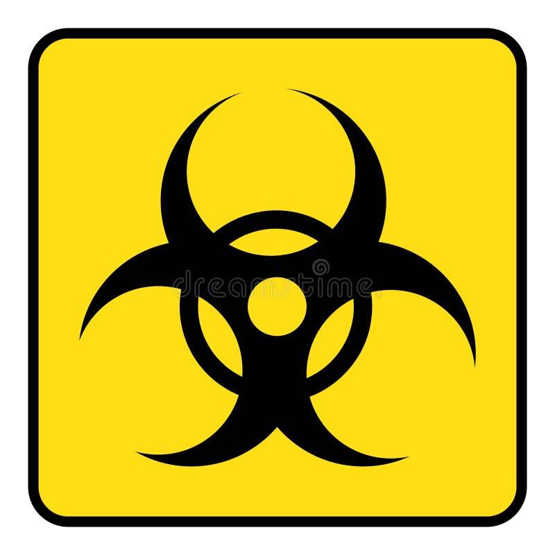 Disegno di simbolo di rischio biologico tramite l'illustrazione illustrazione vettoriale