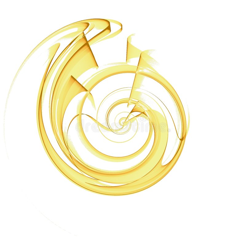 Disegno di spirale delle coperture nel colore giallo royalty illustrazione gratis