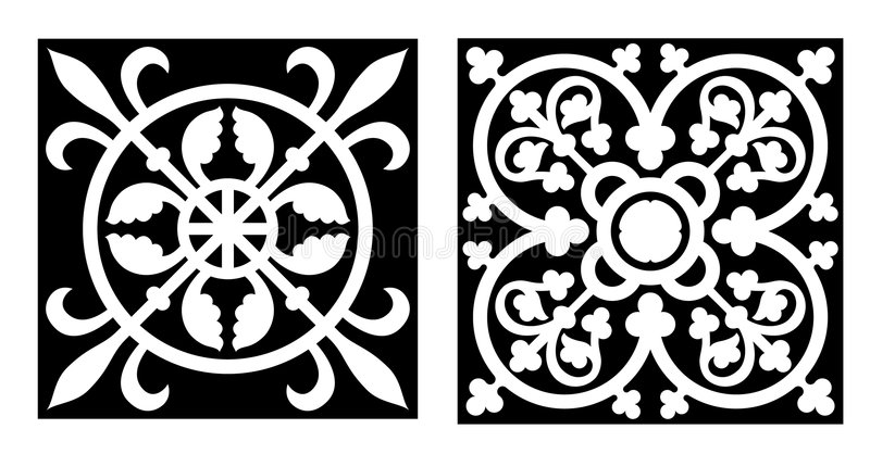 Disegno di stile di Vicrtorian illustrazione vettoriale