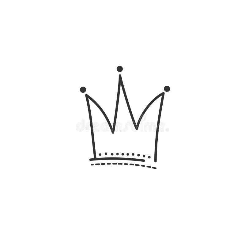 Disegno di stile di scarabocchio della corona Illustrazione disegnata a mano di vettore abbozzo ENV 10 illustrazione vettoriale