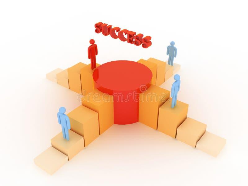 Disegno di successo illustrazione di stock